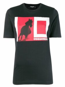 Dsquared2 colour-block logo T-shirt - Black