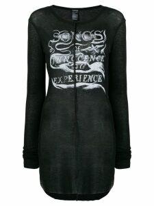 Ann Demeulemeester printed motif jersey - Black