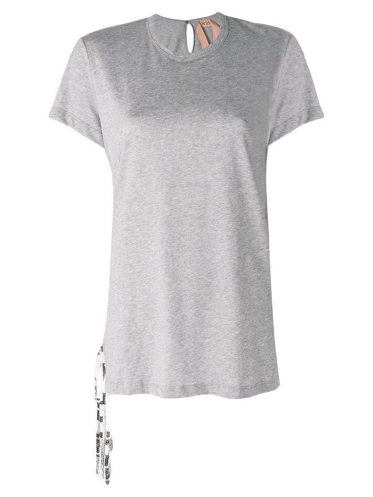Nº21 sequin-embellished top - Grey