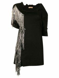 Loulou embellished fringe T-shirt - Black