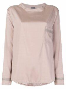 Lorena Antoniazzi long sleeve T-shirt - Neutrals
