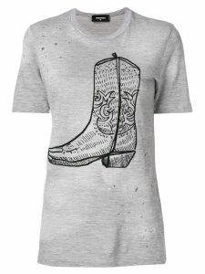 Dsquared2 cowboy boot print T-shirt - Grey