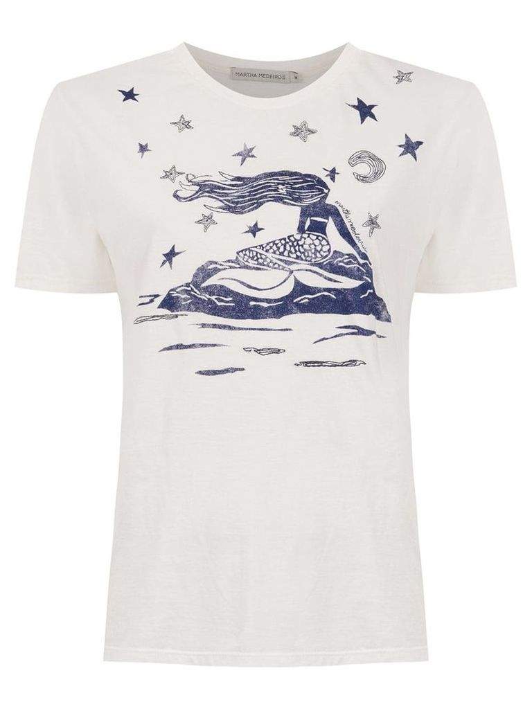 Martha Medeiros printed t-shirt - Neutrals