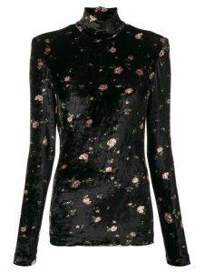 Philosophy Di Lorenzo Serafini floral patterned turtleneck - Black