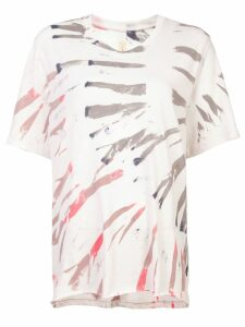 Raquel Allegra printed T-shirt - White