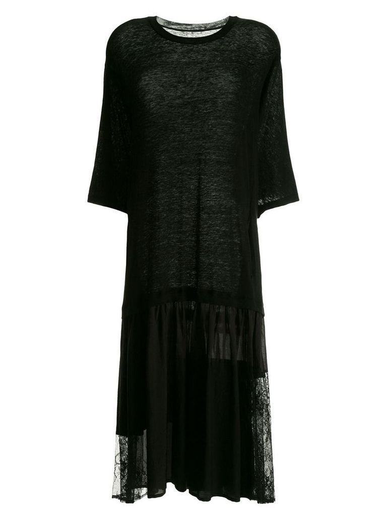 Y's oversized T-shirt - Black