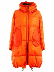 Isaac Sellam Experience leather padded coat - Orange