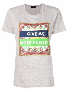 Etro paisley patch T-shirt - Grey