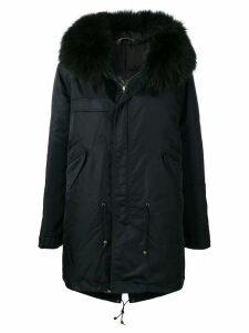 Mr & Mrs Italy fur-trim hooded parka - Black