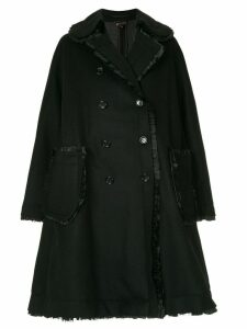 Comme Des Garçons double-breasted flared coat - Black