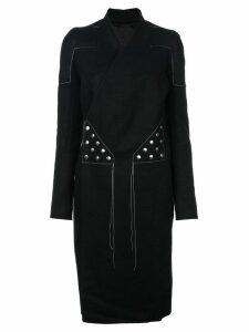Rick Owens wrap-around coat - Black