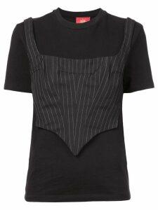 Dilara Findikoglu corset T-shirt - Black