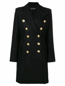Balmain double breasted coat - Black