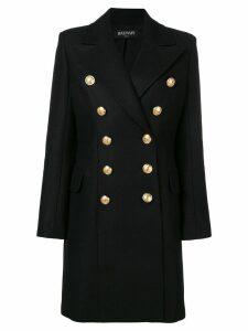 Balmain double breasted coat - Black