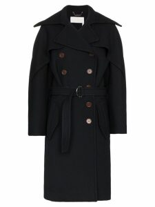 Chloé Belted wool trench coat - Blue