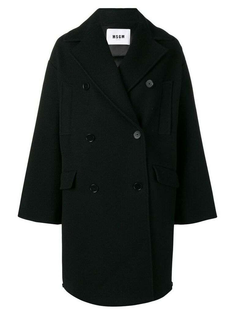 MSGM double-breasted coat - Black