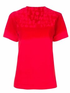 Mm6 Maison Margiela sprayed effect T-shirt - Red