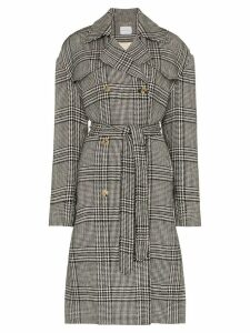 Magda Butrym checked double breasted coat - Grey