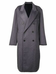 Maison Margiela double buttoned coat - Blue