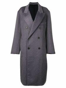 Maison Margiela double buttoned coat - Blue