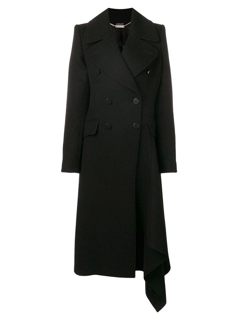 Alexander McQueen asymmetric double-breasted coat - Black