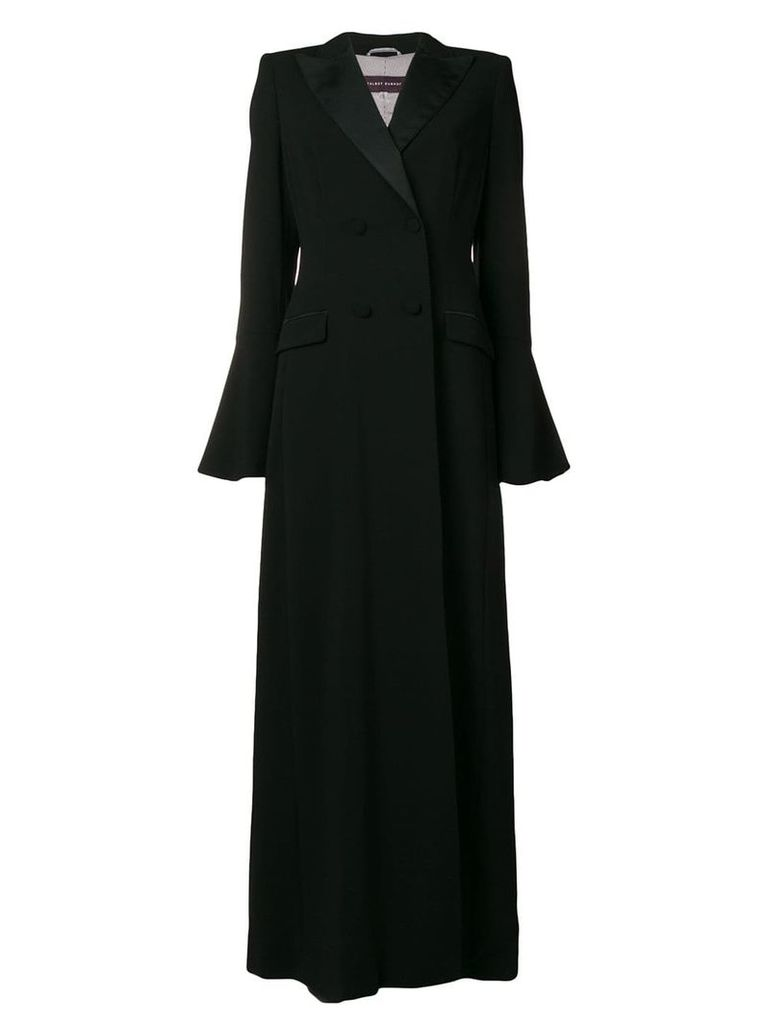 Talbot Runhof long double-breasted coat - 999 (Black)