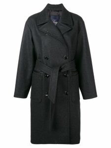 Fay belted double-breasted coat - Grey