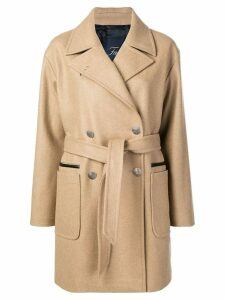 Fay belted double-breasted coat - Neutrals