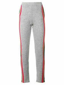 Allude side stripe track trousers - Grey