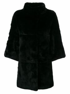 S.W.O.R.D 6.6.44 paneled mid-length coat - Black