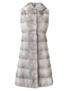 Liska fur detail coat - SILVER
