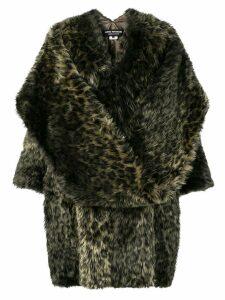 Junya Watanabe leopard faux fur coat - Green