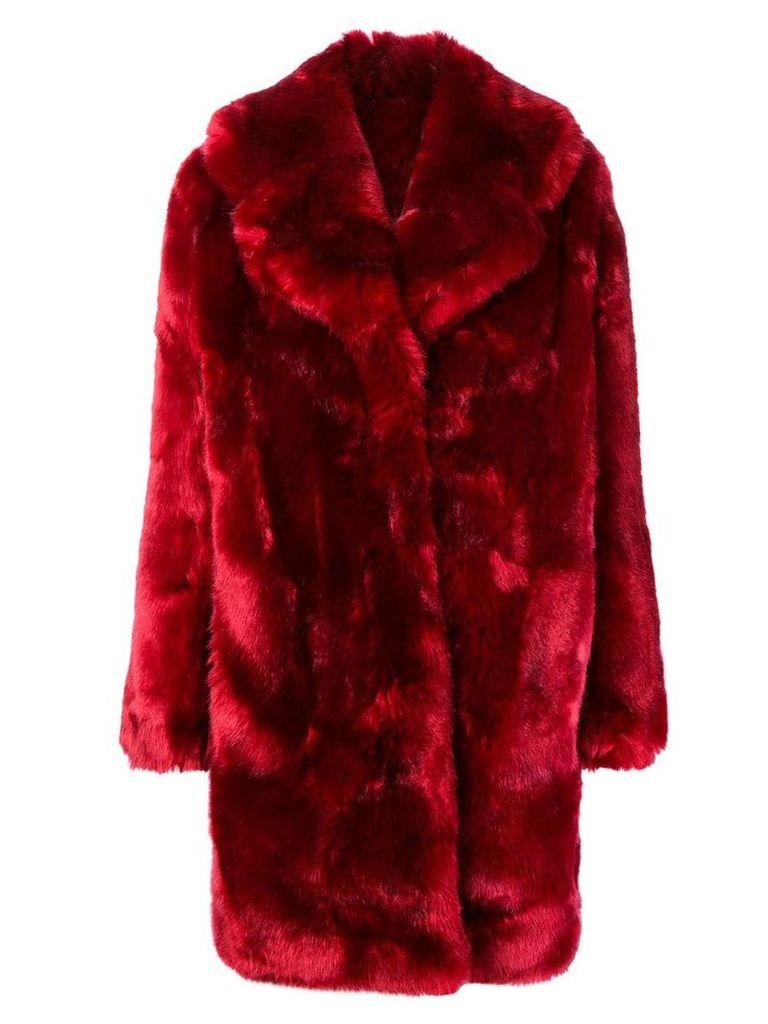 La Seine & Moi Louve faux fur coat - Red