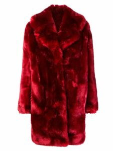 La Seine & Moi Louve faux fur coat - Red