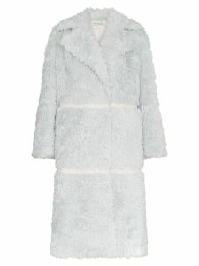 Vika Gazinskaya double breasted panelled mohair alpaca blend coat -