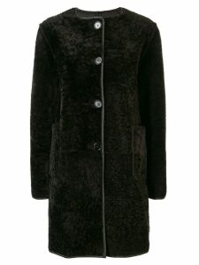 Marni reversible leather coat - Brown