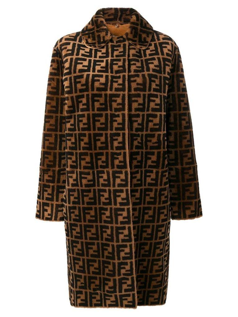 Fendi Double F reversible overcoat - Brown