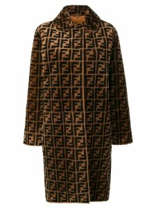Fendi Double F reversible overcoat - Brown