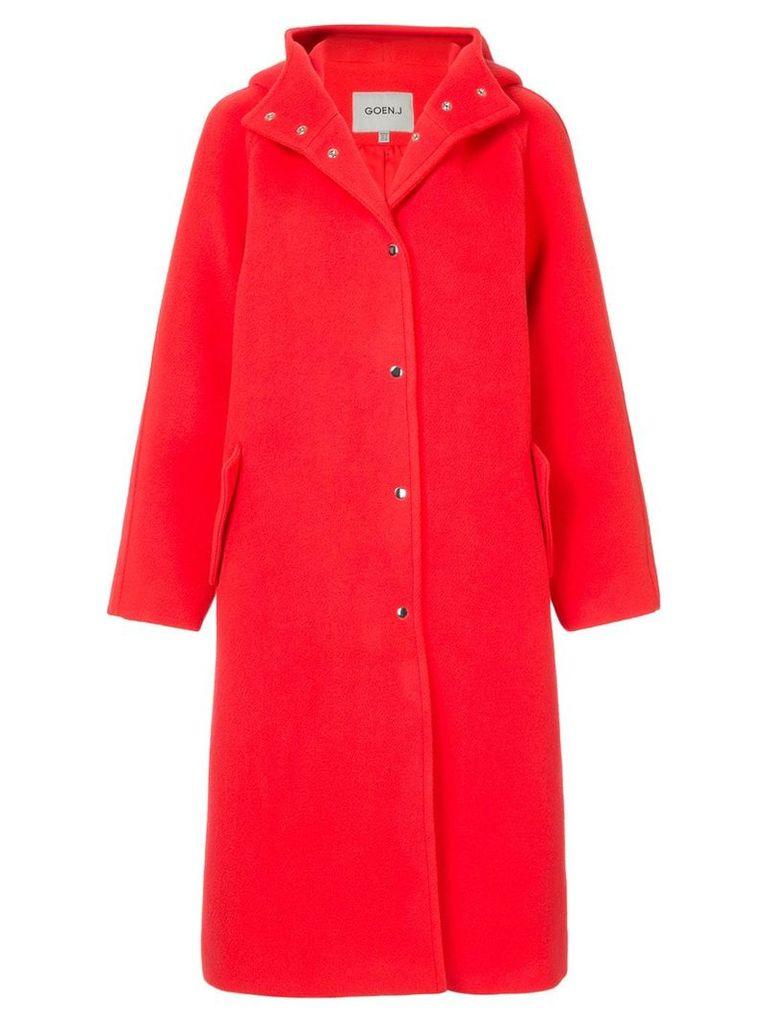 Goen.J hooded coat - Red