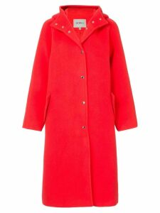 Goen.J hooded coat - Red