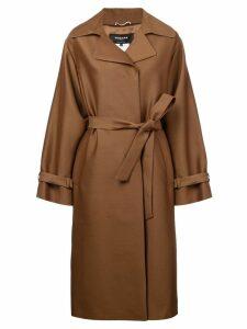Rochas belted coat - Brown