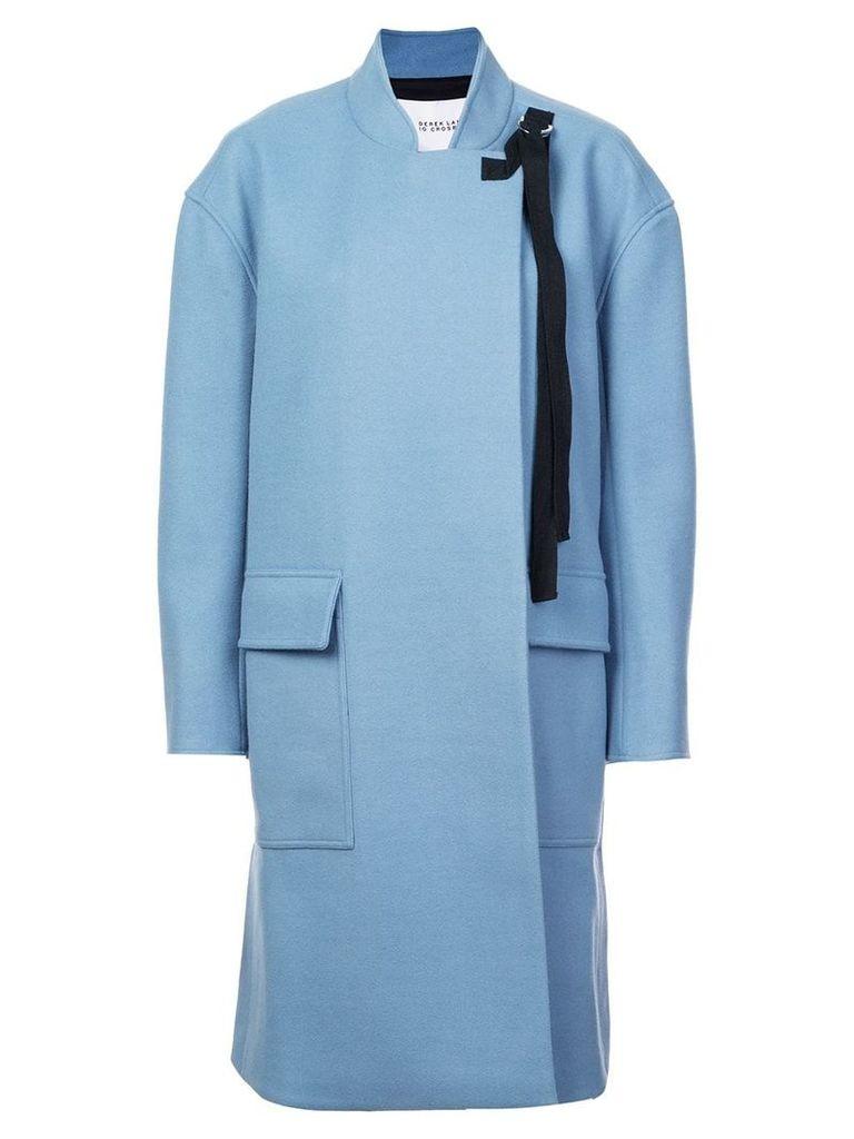 Derek Lam 10 Crosby A-Line Coat - Blue