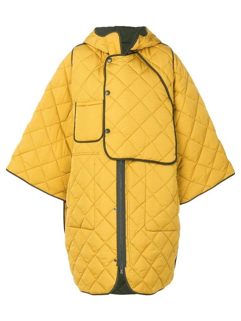 Henrik Vibskov quilted oversize coat - Yellow