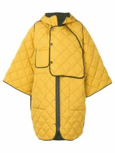 Henrik Vibskov quilted oversize coat - Yellow