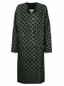 Uma Wang polka dot single breasted coat - Grey