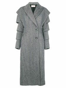 Christopher Kane slash wool coat - Black