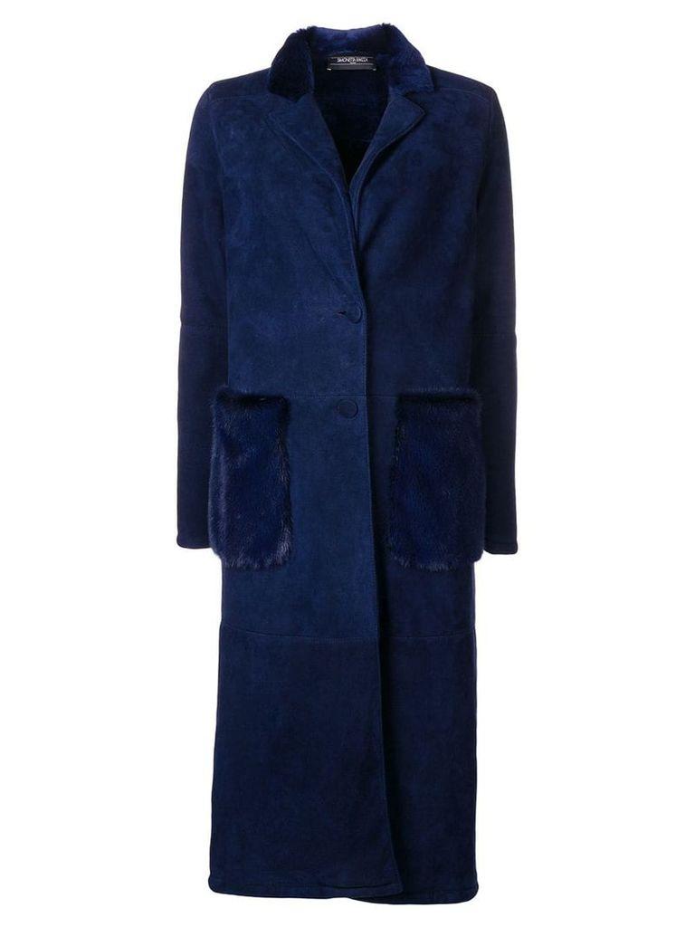 Simonetta Ravizza classic single-breasted coat - Blue