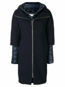 Herno layered puffer coat - Blue