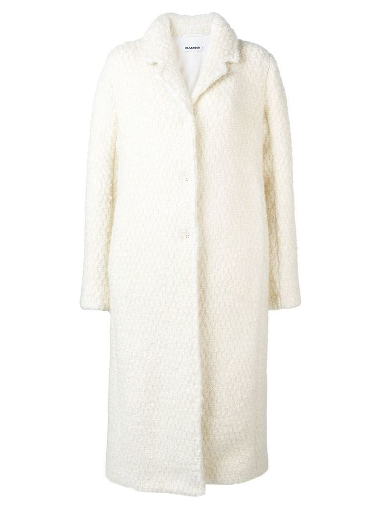 Jil Sander single breasted coat - White