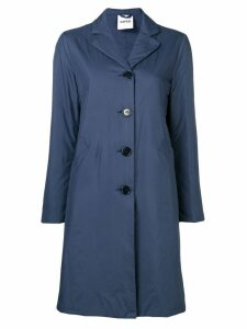 Aspesi straight fit midi coat - Blue